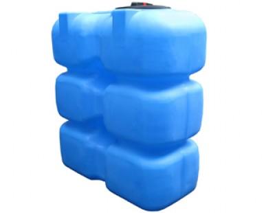 Емкость прямоугольная вертикальная Т1500ФК23, 1500 л, цвет синий (АНИОН)