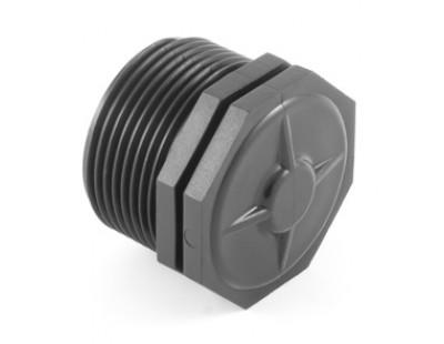 Заглушка резьбовая с наружной резьбой Н1/2 PN10 Plast Project (7810.000E)