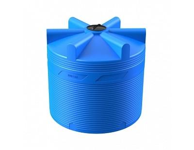 Емкость цилиндрическая вертикальная V 8000, 8000 л, цвет синий (POLIMER GROUP)