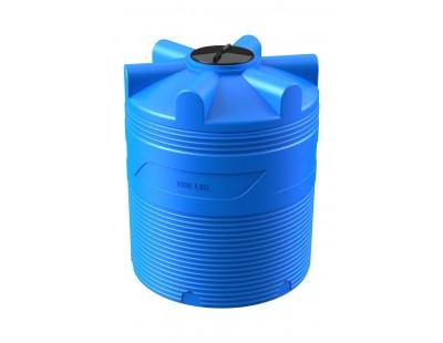 Емкость цилиндрическая вертикальная V 1000, 1000 л, цвет синий (POLIMER GROUP)