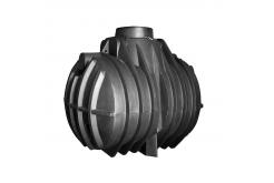 Септик однокамерный, с ребристой поверхностью подземный С3700, 3700 л, цвет черный (АНИОН)
