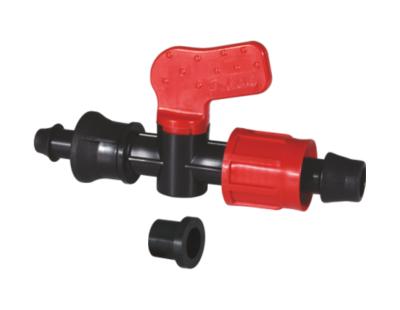Мини-кран переходной с накидной гайкой и со штуцером с резиновым уплотнением 17*PE-PVC PN4 Poliext (07350010)