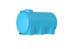 Емкость цилиндрическая горизонтальная АТН-1000, 1000 л, цвет синий (АКВАТЕК)