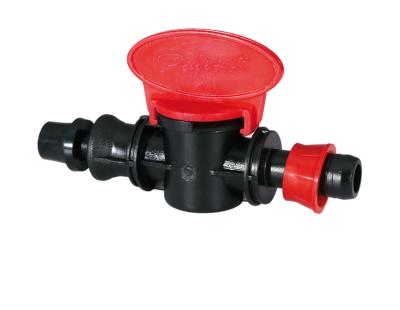 Кран стартовый со стопорным кольцом и со штуцером с резиновым уплотнением 17*PE-PVC PN6 Poliext (07110010)