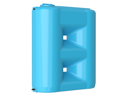 Емкость прямоугольная вертикальная Combi 2000 BW, 2000 л, цвет синий (АКВАТЕК)