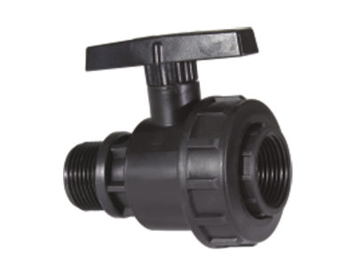 Кран пластиковый компрессионный 25*25 PN16 Poliext (07010020)