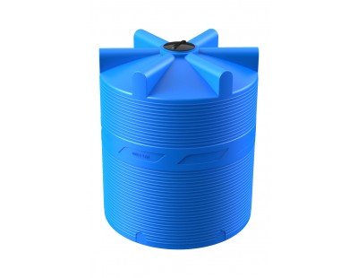 Емкость цилиндрическая вертикальная V 10 000, 10000 л, цвет синий (POLIMER GROUP)