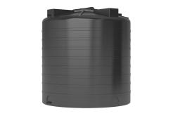 Емкость цилиндрическая вертикальная ATV-2000, 2000 л, цвет черный (АКВАТЕК)