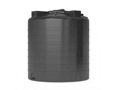 Емкость цилиндрическая вертикальная ATV-1500, 1500 л, цвет черный (АКВАТЕК)