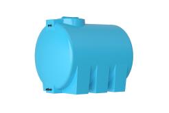 Емкость цилиндрическая горизонтальная АТН-1500, 1500 л, цвет синий (АКВАТЕК)