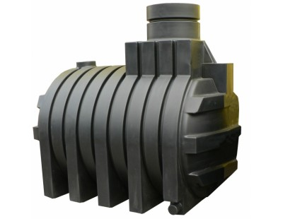 Септик однокамерный, с ребристой поверхностью подземный J5000, 5000 л, цвет черный (АНИОН)
