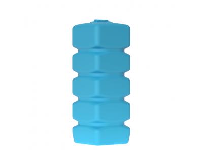 Емкость прямоугольная вертикальная Quadro W 1000, 1000 л, цвет синий (АКВАТЕК)
